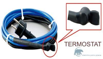 PHC15-12  Kabel za zaštitu od smrzavanja cijevi  12 metara